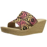 Sbicca Women's pomelo Wedge Sandal - Red/multi - 9