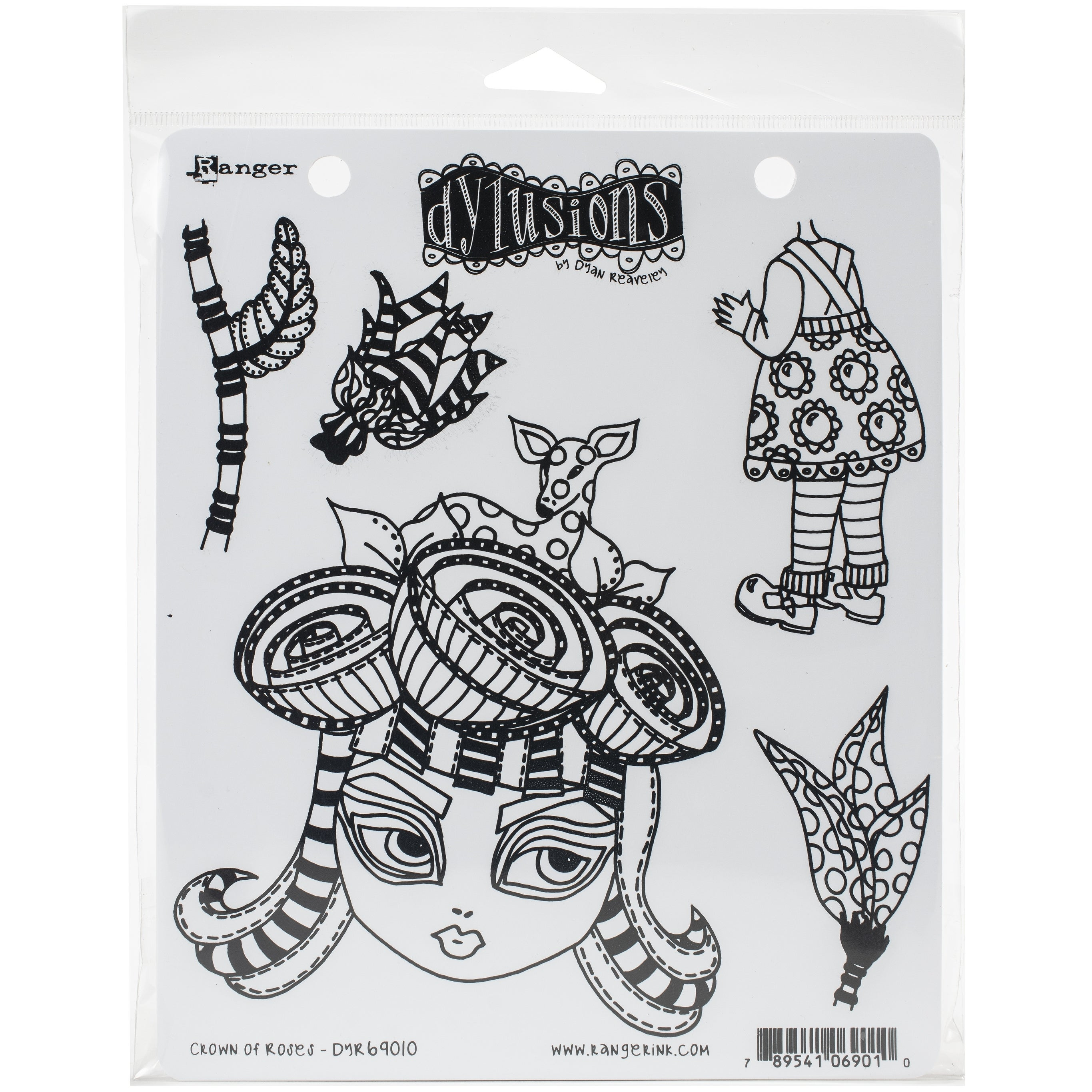 """Ranger Dyan Reaveley/'s Dylusions Cling Stamp Collections 8.5/""""X7/""""-Mini Moo"""