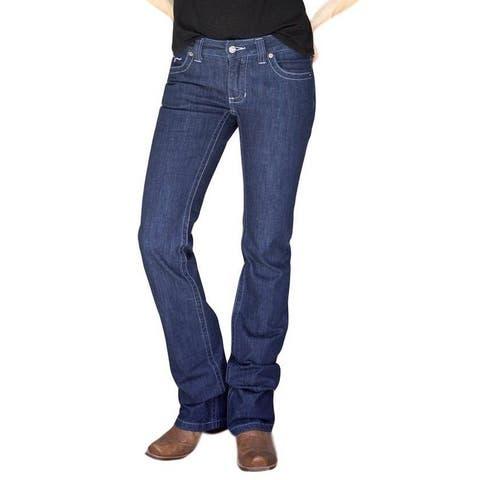 Kimes Ranch Western Jeans Womens Flare Bootcut True Blue