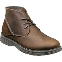Nunn Bush Men's Littleton Plain Toe Chukka Boot Brown Leather