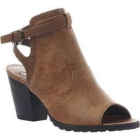 Madeline Women's Wisteria Open Toe Bootie Tan Textile/Synthetic