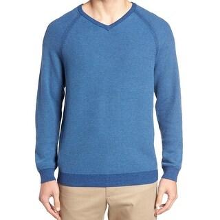 Tommy Bahama NEW Blue Mens Size Large L V-Neck Reversible Sweater