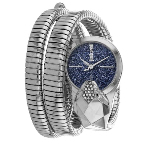 Just Cavalli Women's Glam Snake Blue Dial Watch - JC1l114M0025 - One Size