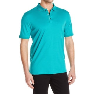 Calvin Klein NEW Green Mens Size Small S Polo Rugby Liquid Cotton Shirt