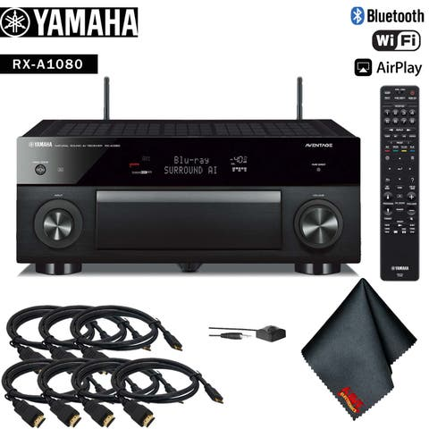 Yamaha AVENTAGE RX-A1080 7.2-Channel Network A/V Receiver Accessory Kit - Includes - 7 x HDMI Cable + More!