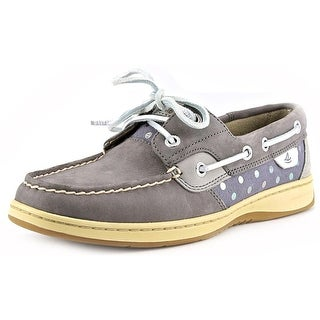 Sperry Top Sider Bluefish Women Moc Toe Leather Gray Boat Shoe