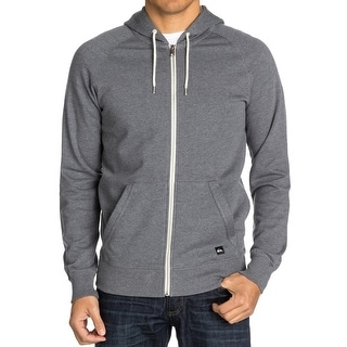 Quiksilver NEW Gray Heather Mens Size XL Hooded Full Zip Sweater