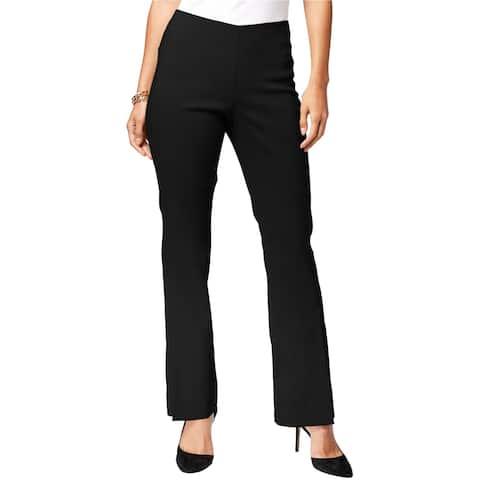 I-N-C Womens Pull-On Dress Pants, black, 10