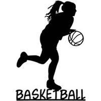 """Basketball Girl - Cardstock Laser Die-Cuts 4""""X6"""""""