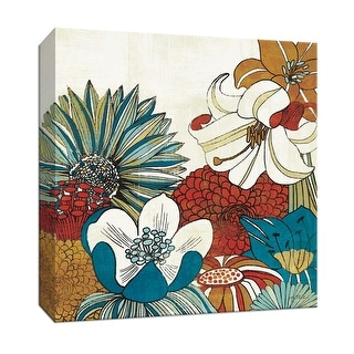 """PTM Images 9-152489  PTM Canvas Collection 12"""" x 12"""" - """"Contemporary Garden II"""" Giclee Flowers Art Print on Canvas"""