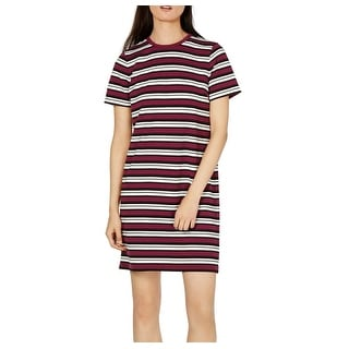 Link to Michael Kors Womens T-Shirt Dress Purple Size Small S Striped Crewneck Similar Items in Dresses