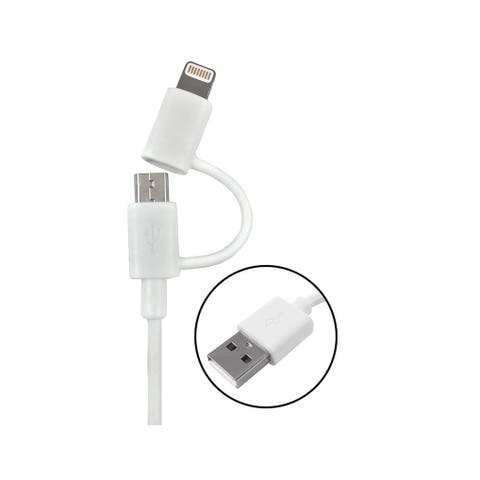 AmerTac PM1002MU8ADP Zenith Micro USB Cable With Adapter, 3' L