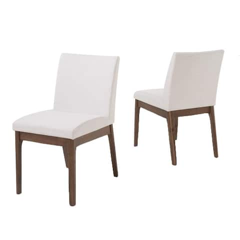Kwame Mid-century Fabric Dining Chair by Christopher Knight Home (Set of 2) - N/A
