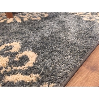 Mohawk Home Bay Blue Huxley Exploded Medallions Area Rug