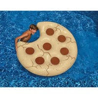 """60"""" Inflatable Cookie Shaped Novelty Swimming Pool Floating Raft - brown"""