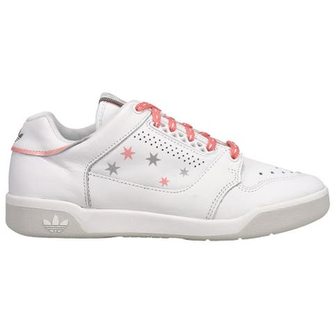 adidas Slamcourt Lace Up Womens Sneakers Shoes Casual - White