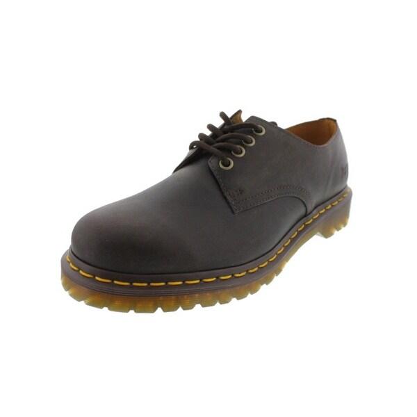 Dr. Martens Mens Stanton Casual Shoes Leather Contrast Trim - 13 medium (d)