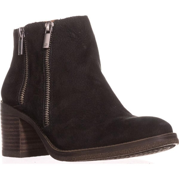 Lucky Brand Roquee Double Zipper Ankle Boots, Black