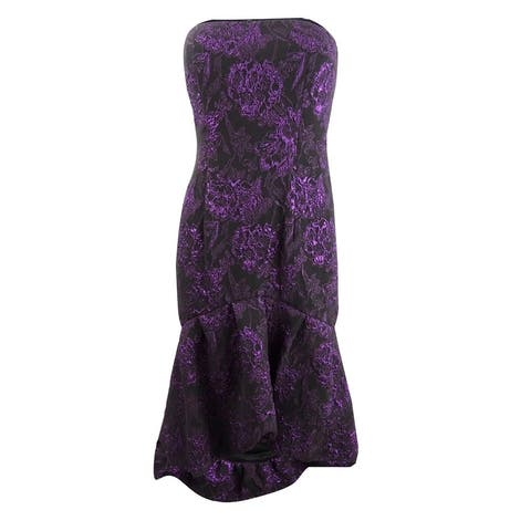 Aidan Mattox Women's Strapless Mindi Dress - Plum