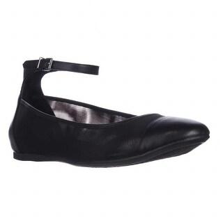 BCBGeneration Mesh Ankle Strap Flats - Black