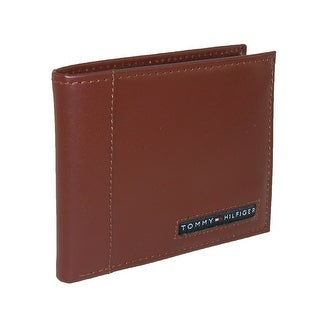 Tommy Hilfiger Men's Leather Cambridge Billfold Passcase Wallet - One size