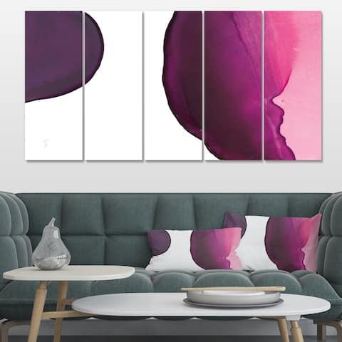 Designart 'Paint of Magenta Stone' Shabby Chic Canvas Art