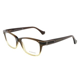 Balenciaga BA5006/V 050 Dark Brown Gradient Yellow Rectangular Opticals - 53-16-135