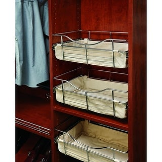 Rev-A-Shelf CB-181211 CB Series 18 x 12 x 11 Inch Wire Pull-Out Closet Basket - N/A