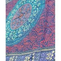 Handmade Sanganer Geometrical Cotton Tapestry Tablecloth Bedspread Throw Beach Sheet Bed Sheet Dorm Decor Twin 68x102