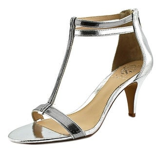Vince Camuto Makoto Women  Open Toe Leather Silver Sandals