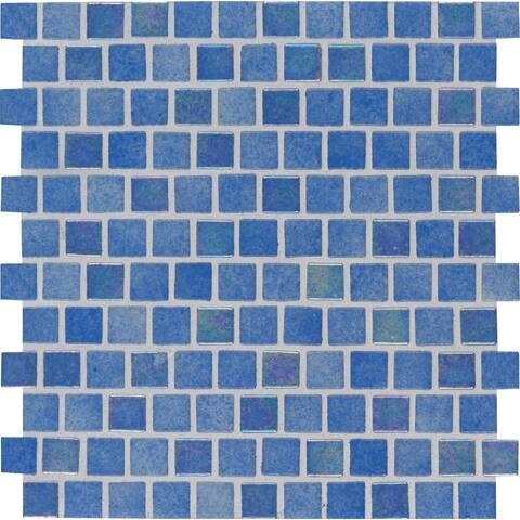 "MSI SMOT-GLSB-HAW4MM Hawaiian - 1"" Square Mosaic Tile - Glossy Glass"