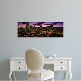 Easy Art Prints Panoramic Images's 'Denver, Colorado skyline at dusk' Premium Canvas Art
