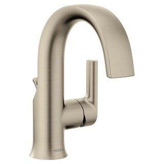 Moen S6910  Doux 1.2 GPM Single Hole Bathroom Faucet with Pop-Up Drain Assembly