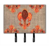 Thanksgiving Turkey Fleur de lis Leash Holder or Key Hook