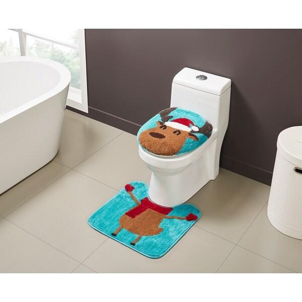 Reindeer Holiday 2-Piece Bath Set. Opens flyout.