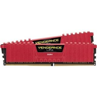 Corsair CMK16GX4M2A2400C14R Corsair Vengeance LPX 16GB (2x8GB) DDR4 DRAM 2400MHz C14 Memory Kit - Red - 16 GB (2 x 8 GB) - DDR4