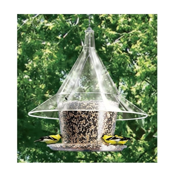 "17"" Clear Circular Full-View Patio Mandarin Sky Cafe Bird Feeder - N/A"
