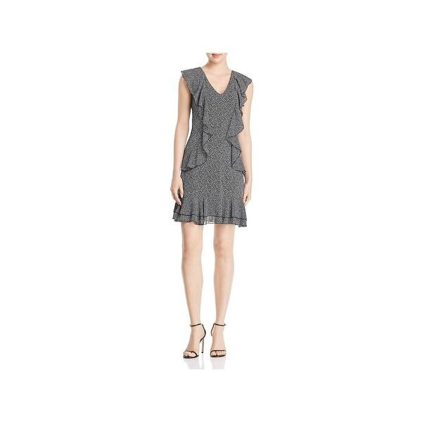 66de6c6d2c1 Shop MICHAEL Michael Kors Womens Flounce Dress Printed Mini - Free Shipping  Today - Overstock - 27432586