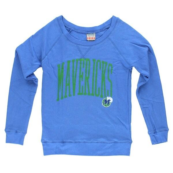 online store c88ef 9571d JunkFood Womens Dallas Mavericks Fadeaway Sweater Blue - Blue/Green