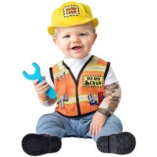 Infant Demo Crew Construction Worker Costume