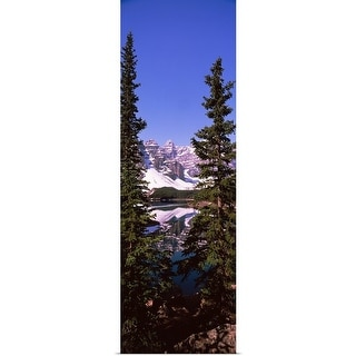 """""""Lake in front of mountains, Banff, Alberta, Canada"""" Poster Print"""