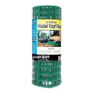 "Garden Zone 022450 Green Vinyl Garden Fence, 24"" x 50'"