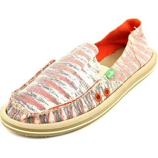 Sanuk Donna Women Round Toe Canvas Multi Color Loafer