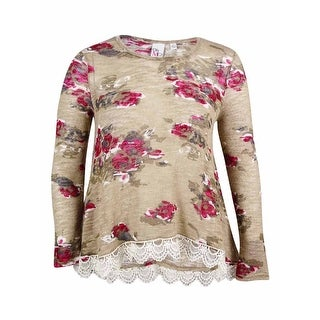 Oh MG! Women's Floral Print Knit top