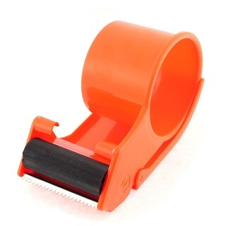 Unique Bargains Handheld Packing 60mm Rolling Tape Cutter Dispenser Holder Package Tool