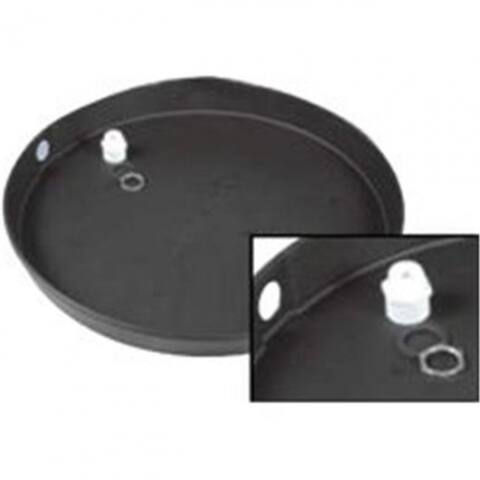 """Camco 11410 Plastic Drain Pan with PVC Fitting, 28""""ID x 2"""""""