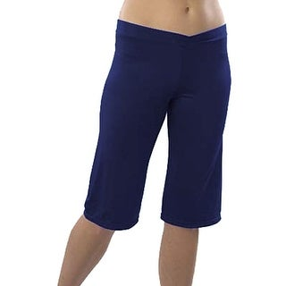 Pizzazz Girls Size 2T-16 Navy Microfiber Cropped Cheer Dance Pants