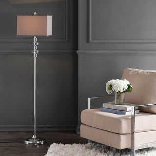 """Link to Safavieh Lighting 60-inch Times Square Crystal Floor Lamp - 14""""x14""""x60.5"""" Similar Items in Floor Lamps"""
