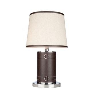 Artcraft Lighting SC879OM Bay Street 2 Light Pedestal Base Table Lamp - Oatmeal