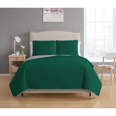Asher Home Briton Reversible 3-piece Quilt Set
